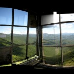 Panoramic of the interior of the Shuckstack fire tower room. Words cannot describe the awe-inspiring view...but maybe this crazy panoramic can help!